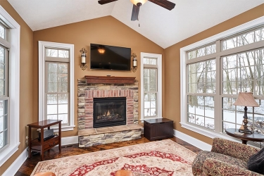 Brentwood Fireplace and Sunroom
