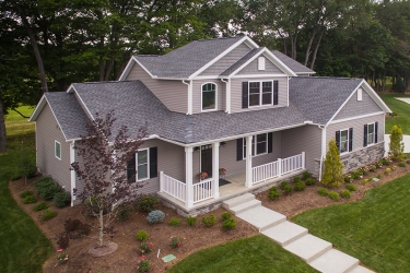 custom home on beautiful private culdesac