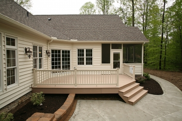 deck with enclosed porch by gatliff custom builders