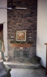 floor to ceiling fireplace by gatliff custom builders