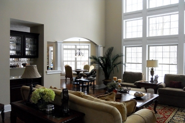 great room with floor to ceiling windows and lots of natural lighting