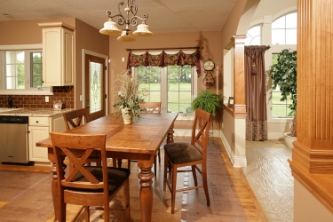 view of dining room just off kitchen