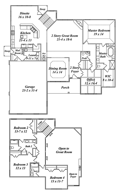 the carrington floor plan by gatliff custom homes