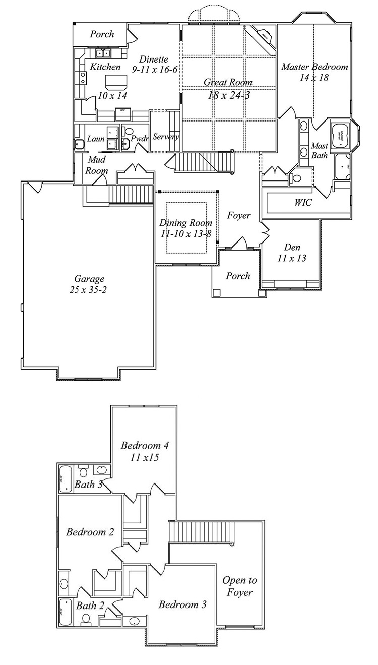 kensignton floor plan by gatliff custom builders