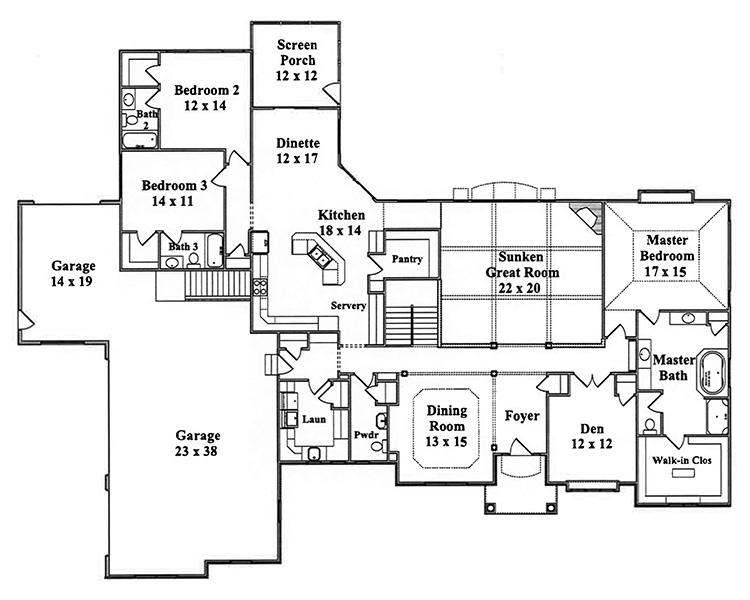 Lexus floor plan by gatliff custom homes