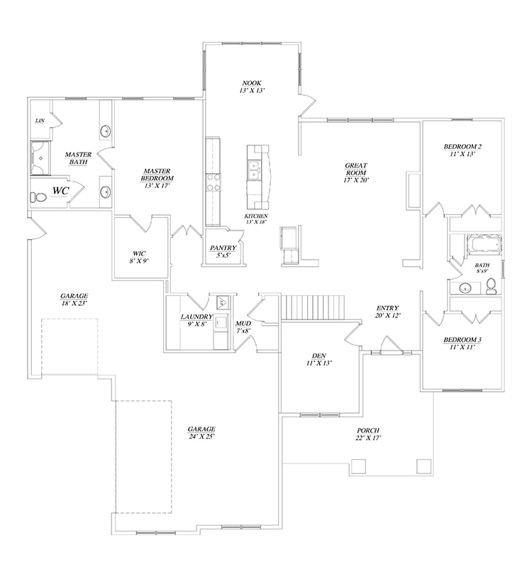 Remington floor plan by gatliff custom builders