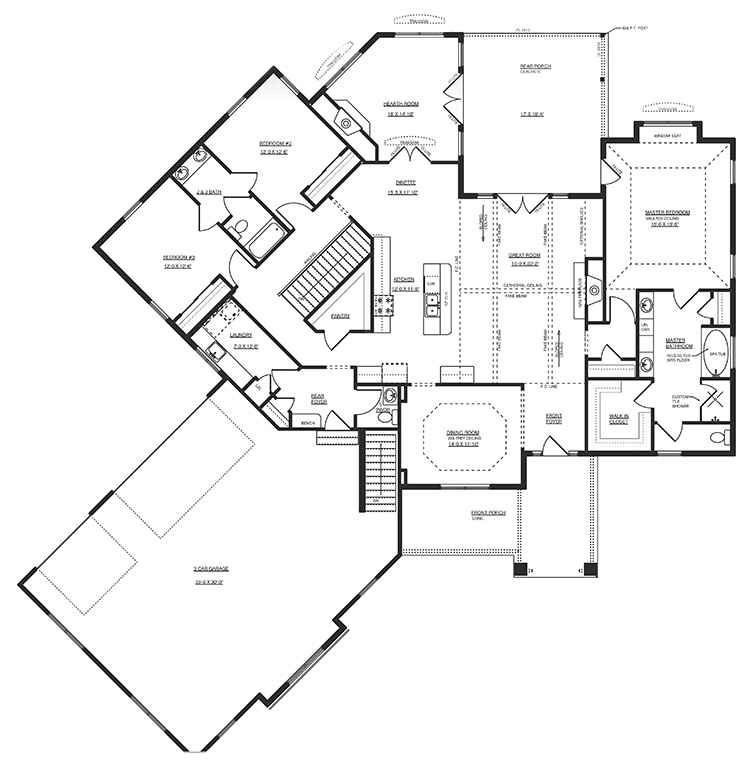 victoria floor plan by gatliff custom builders