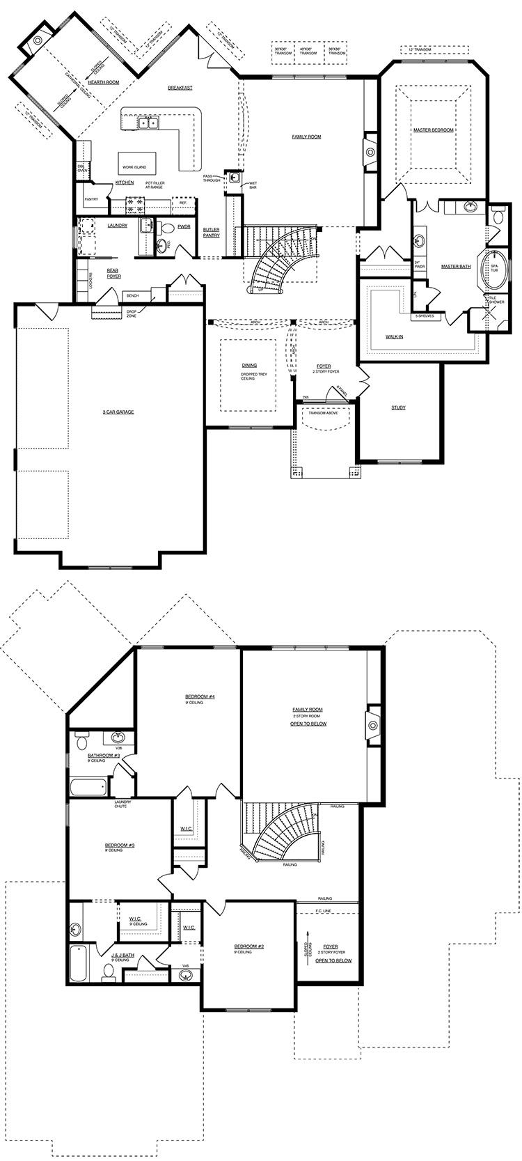 wood field floor plan by gatliff custom builders